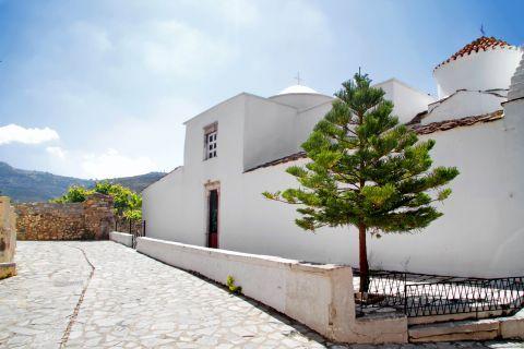 Halki: A whitewashed church