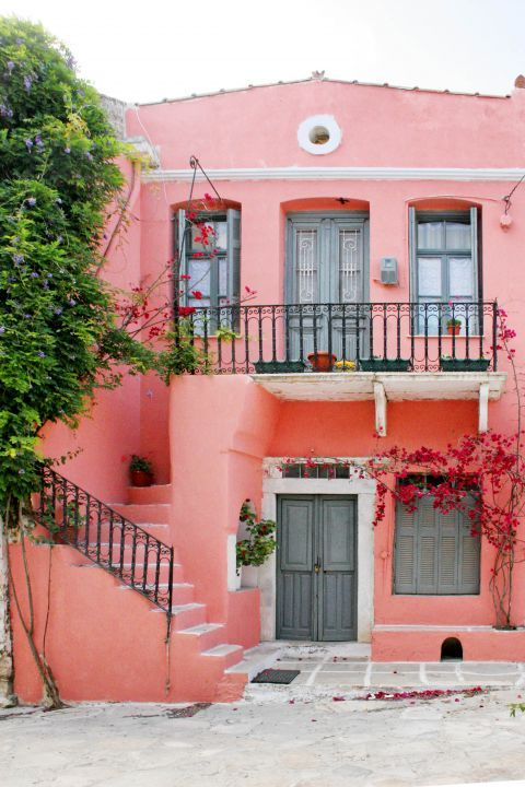 Halki: A pink-colored house