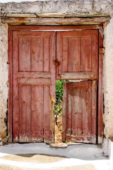 An old, wooden door