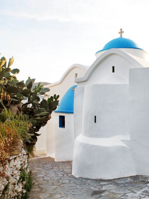 Chapel in white and blue colors