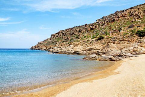 Papa: A sandy beach with cliffs around