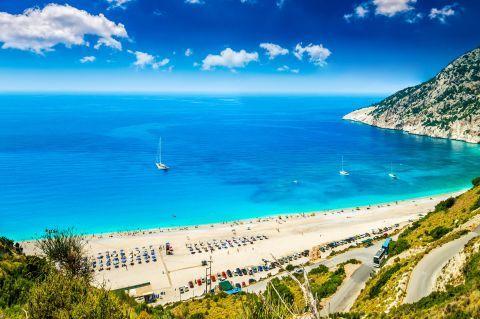 Myrtos: Relaxing sea view
