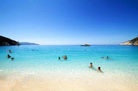 Myrtos: A family friendly beach