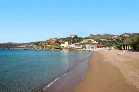 The beaches of Sounion