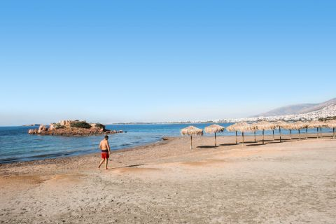 Kavouri: The sandy beach of Kavouri