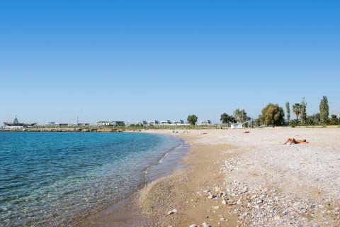 Glyfada Beach: The blue waters of Glyfada beach
