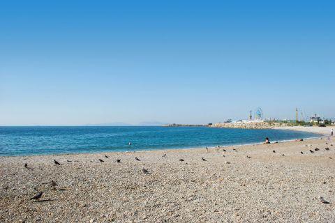 Glyfada Beach: The pebbled beach of Glyfada