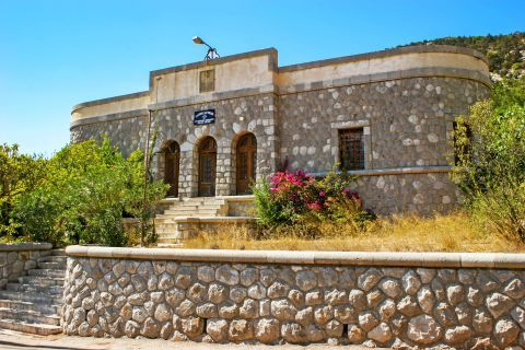Monolithos: A stone built construction, which houses the department of the Hellenic Police in Monolithos village.