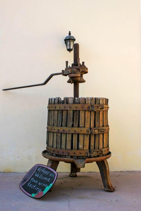 Embonas: Wine distillery in Embonas.