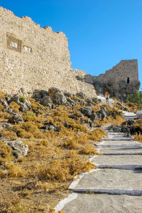 Archangelos: View of the Medieval Castle.