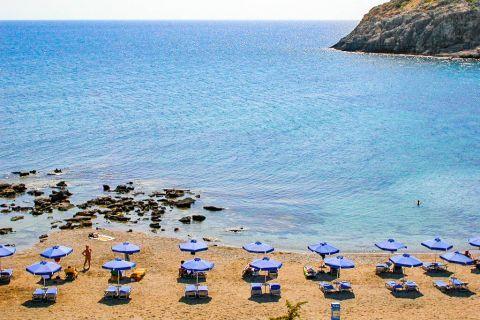 Faliraki Nudist: Panoramic view of Faliraki Nudist beach.