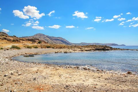 Katsouni: The beach stretches for 1 km and is mostly known for its shallow water