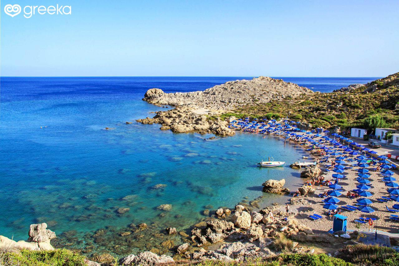 Rhodes Ladiko beach - Rhodes Beaches | Greeka.com