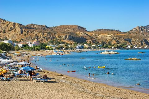 Stegna: Stegna beach. A beautiful area with natural tranquility.
