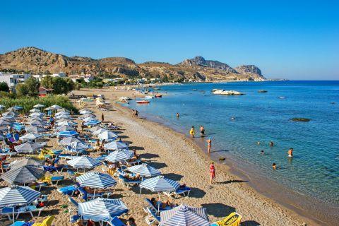 Stegna: Popular spot on Stegna beach.