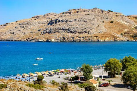 Vlicha: High hills and blue waters combine a unique scenery on Vlicha beach.