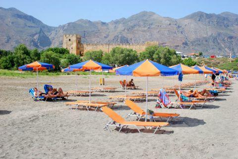 Frangokastello: At the beach of Frangokastello