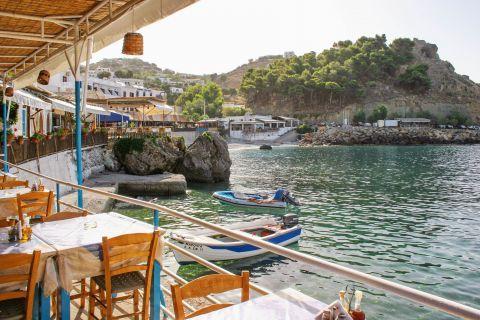 Sfakia: Taverns on the beachfront of Sfakia.