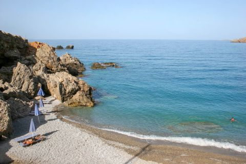 Sfakia: A small beach with cliffs and blue waters