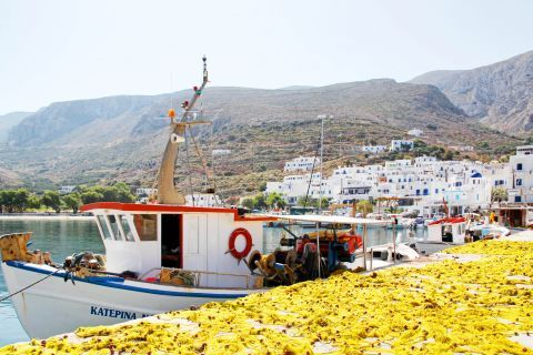 Fishing boats and whitewashed houses