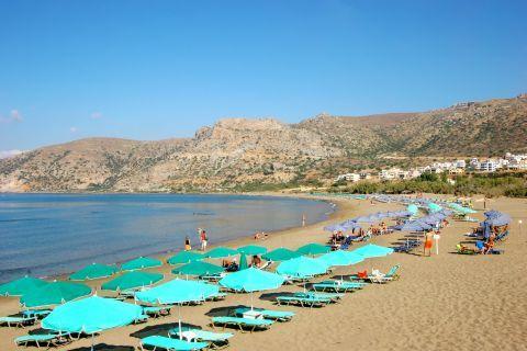 Pahia Ammos: Partly organized beach