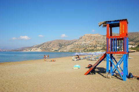 Pahia Ammos: A lifeguard tower