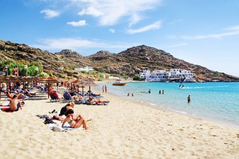 Mylopotas: Mylopotas is one of the most frequented beaches in Ios.