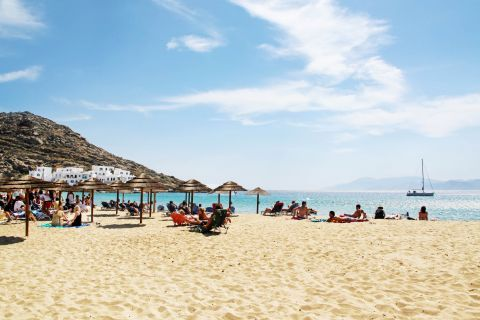 Mylopotas: Mylopotas is one of the most visited and crowded beaches on Ios