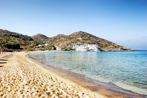 Mylopotas: Mylopotas beach has been awarded with a Blue Flag.