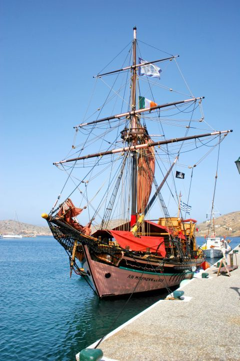 Ormos: An old, impressive sailing ship