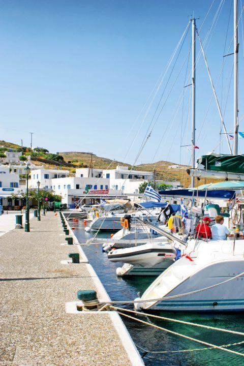 Ormos: At the small port of Ormos
